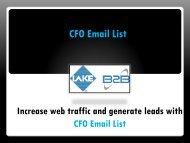 CFO Mailing List