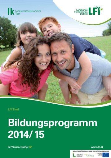 Bildungsprogramm 2014/15