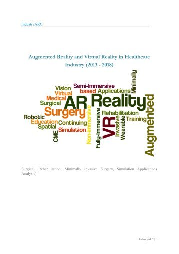 Augmented Reality and Virtual Reality in Healthcare Industry (2013 - 2018)