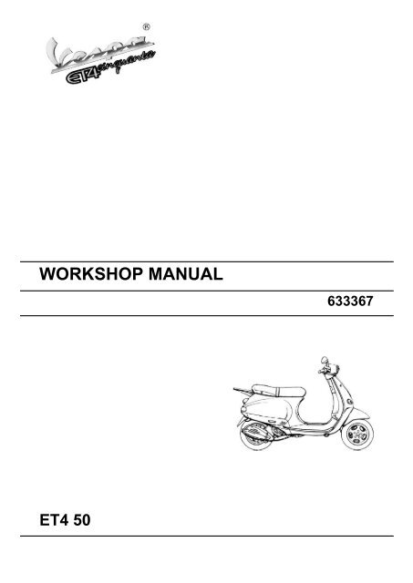 manual for vespa piaggio
