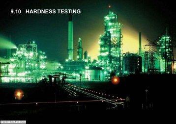 9.10 HARDNESS TESTING
