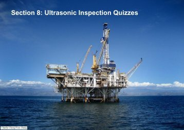 Section 8: Ultrasonic Inspection Quizzes