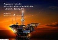 Preparatory Notes for ASNT NDT Level III Examination - Ultrasonic Testing, UT