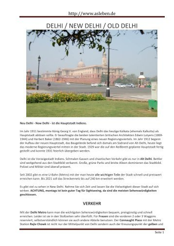DELHI / NEW DELHI / OLD DELHI