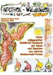Infothek Waldkinder - Blick in den September Waldbrief