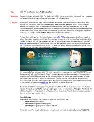 MB6-700 Practice Exam Questions