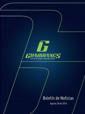 Boletín informativo de seguridad Guardianes del 26-08-2014