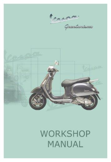 workshop manual vespa gts 250 i e rh yumpu com vespa lx 125 service manual vespa lx 125 service manual pdf