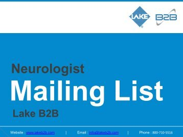 Get Potential Response - Neurologist Email List