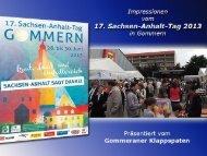 17. Sachsen-Anhalt-Tag 2013 in Gommern