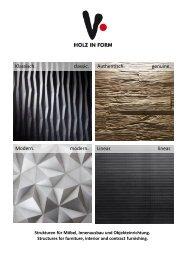 Holz in Form - Produktkatalog