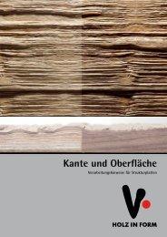 Holz in Form - Kante und Oberfläche