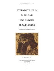 Everyday Life in Babylonia and Assyria (H W F Saggs)