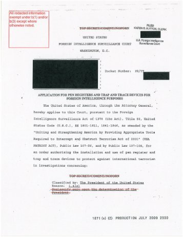 Final 051.Application for pen register-trap and trace devices for foreign intelligence purposes