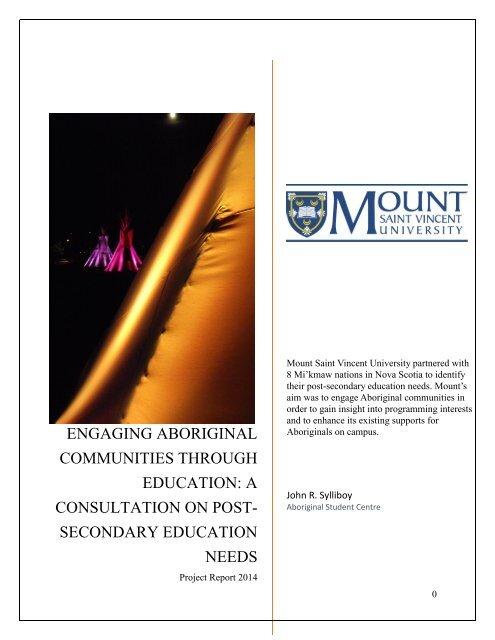 FINAL REPORT Engaging Aboriginal Communities Through Education
