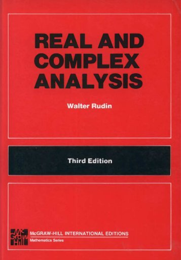 Real and Complex Analysis (Rudin)