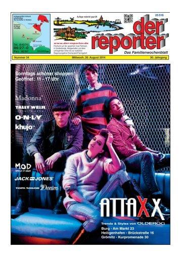 der reporter - Das Familienwochenblatt für Fehmarn 2014 KW 34