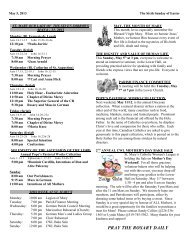 May 5, 2013 The Sixth Sunday of Easter - St. Mary Roman Catholic ...