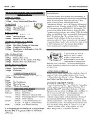March 3, 2013 The Third Sunday of Lent - St Mary's Church
