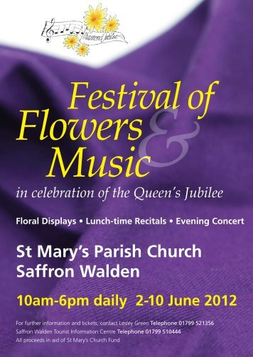 Festival of Flowers and Music - St Mary's Church, Saffron Walden