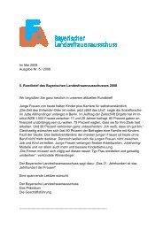 Im Mai 2008 Ausgabe Nr. 5 / 2008 5. Rundbrief des Bayerischen ...
