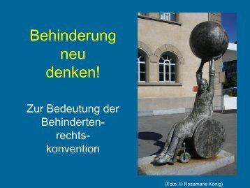 """Impulsreferat """"Behinderung neu denken! - Zur Bedeutung der ..."""