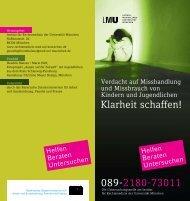 Flyer Kinderschutzambulanz - Bayerisches Staatsministerium für ...