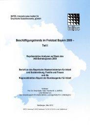 Beschäftigungstrends im Freistaat Bayern 2009 - Bayerisches ...