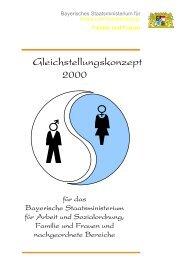 Gleichstellungskonzept 2000 - Bayerisches Staatsministerium für ...