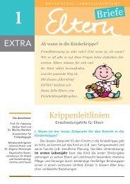 Krippenleitlinien - Eine Entscheidungshilfe für Eltern - Bayerisches ...