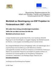 Merkblatt zur Beantragung von ESF-Projekten im Förderzeitraum ...
