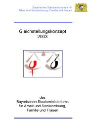 Gleichstellungskonzept 2003 - Bayerisches Staatsministerium für ...