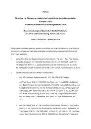 Bayerisches Staatsministerium für Arbeit und Sozialordnung ...
