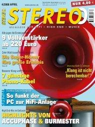 9 Vollverstärker ab 220 Euro - Burmester Audiosysteme GmbH