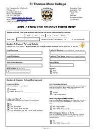 Enrolment App and Checklist.pdf - St Thomas More College