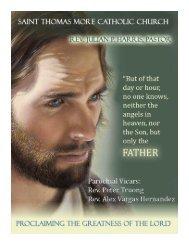 Sacrificial Giving at St. Thomas More Parish November 7-8, 2009