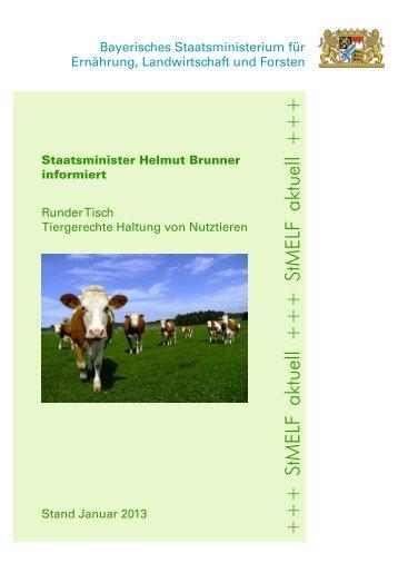 Runder Tisch; Tiergerechte Haltung von Nutztieren - Bayerisches ...