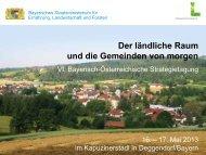 Ergebnisse der Arbeitsgruppe 3 - Bayerisches Staatsministerium für ...
