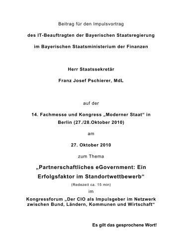 Impulsvortrag auf der Fachmesse und Kongress Moderner Staat in ...