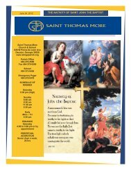 THE NATIVITY OF SAINT JOHN THE BAPTIST - Saint Thomas More