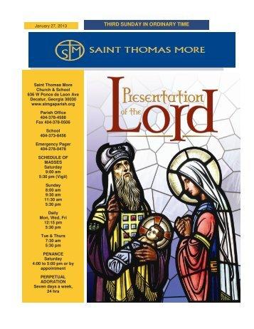 THIRD SUNDAY IN ORDINARY TIME - Saint Thomas More