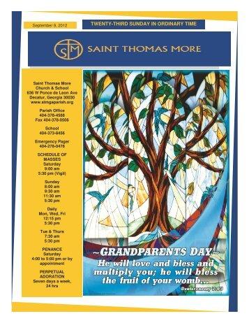 TWENTY-THIRD SUNDAY IN ORDINARY TIME - Saint Thomas More