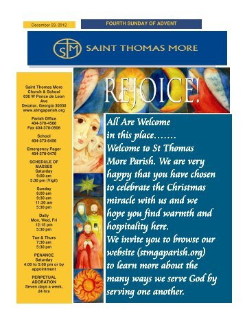 All Are Welcome All Are Welcome in this place……. - Saint Thomas ...