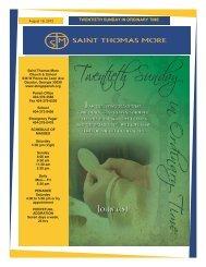 TWENTIETH SUNDAY IN ORDINARY TIME - Saint Thomas More