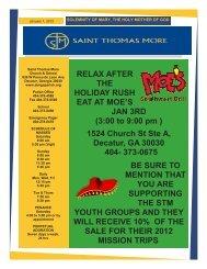 3:00 to 9:00 pm - Saint Thomas More