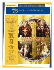 the holy family of jesus, mary and joseph - Saint Thomas More