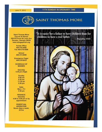 11TH SUNDAY IN ORDINARY TIME - Saint Thomas More