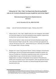 Eingeführte Technische Baubestimmungen - Bayerisches ...