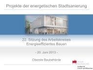 Projekte der energetischen Stadtsanierung - Bayern