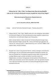 Liste der Technischen Baubestimmungen - Bayerisches ...